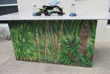 Jungle themed murals and rooms / Murals I've created for both children and adults with a distinct jungle theme