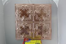 New Tin Ceiling Tile Colors from Metalceilingexpress / Adding to the collection of over 60 colors, Metalceilingexpress has created some new and exciting colors.  Penny Pearl, Antique Clear, Oil Rubbed Bronze