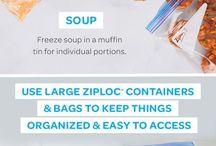 storing food