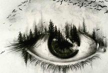 Eyes tattoo