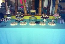 Sweets Table / Sweets table at at vintage theme baby shower.