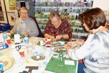 Surprise workshop - 12 december 2015 / Op 12 december 2015 was er een surprise workshop. Je kon een projectje maken bij: Astrid Schipper, Angela van Dorp, Kim van Endschot en Noriko van der Veen.