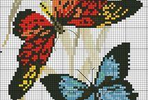 πεταλουδα σταυροβελονια
