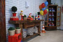 Festa Patrulha Canina / Festa de 4 anos do João Maurício, com decoração temática da série de desenho animado Patrulha Canina, no Espaço Florescer Eventos - Buffet infantil lúdico na Zona Leste de São Paulo.
