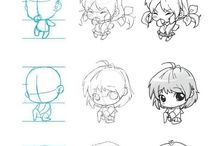 anime characters draw, so cutee