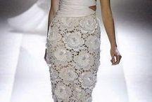 vestidos noiva croche