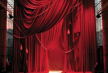 Red curtain / Theaters masks and magic
