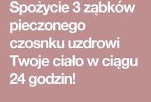 CZOSNEK - ZALETY