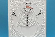Snowman / Winter / Make a hand stamped Snowman or Winter card or gift using Stampin' Up! products. Card making, 3D gifts & inspiration posted at http://StampingMom.com