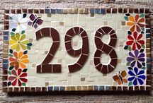mosaico placa