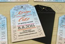 Destination Save the Dates / Save the Dates with a travel or destination theme + tropical beach designs.