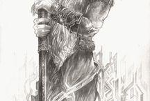 Nahar-Doa.deviantart.com / Tolkien illustration by Doga Simsir (nahar-doa)  http://nahar-doa.deviantart.com/