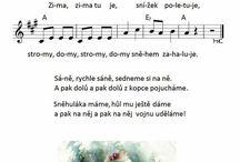 Písně, říkanky, ...