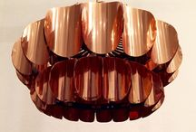 Copper lamp / Beautiful copper lamps from the mid century