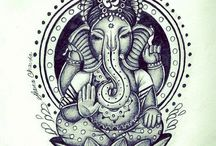 Tattoo ganesha buddha elephant