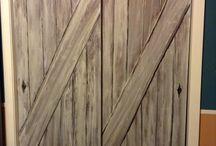 faux barn doors / by Victoria Dederer