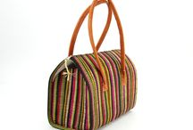 Bags with raffia / multicolor, from Madagascar :)