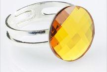 Anillos, comprar bisutería online / Tenemos anillos para todos los gustos, plata de ley, Cristal Swarovski Elements, Chapado en Oro.  ¿Te gustan?