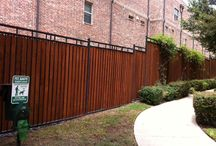 Combination Fences (Wood and Ornamental Iron)