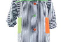 Boys art smocks & aprons / Batitas de pintor y mandiles para los peques.