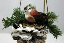 pine comb ornaments
