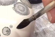paint on pottery