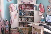 DIY Sweet Studio Storage