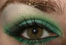Green eyes and makeup / by Erika Saeppa Lovingfoss