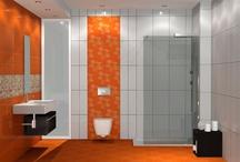 Composition Emotions / Τα φωτεινά χρώματα της σειράς σε συνδυασμό με την γυαλιστερή επιφάνεια των πλακιδίων συνθετουν ένα ευχάριστο και συγχρόνως φωτεινό σύνολο. Το συγκεκριμένο μπάνιο ανήκει σε κατοικία στην Χαλκιδική και έχει διαστάσεις 3,00x2.50 m ενώ το ύψος με βάση την κατασκευή περιορίστηκε στα 2,65 m. Για την επένδυση των τοίχων χρησιμοποιήθηκε το πλακάκι Emotion Sol και Emotion Blanco τα οποία ανήκουν στην σειρά Emotions και έχουν διάσταση 33,3x50 cm.
