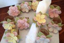 flores de feltro