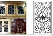Faux Iron Cabinet Door Inserts / Turn your home into the talk of the town with Tableaux Faux Iron Cabinet Inserts. From kitchen cabinets to freestanding cabinets, there's no limit to your design options. For more information about these Eco-friendly fine home decor fixtures that can be customized to your specifications, call 1(800)281-9963 or email Info@FauxIronDIRECT.com today!