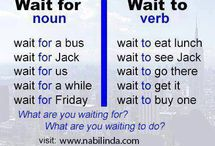 WAIT TO / WAIT FOR