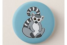 Cartoon Animal Badges for Animal Lovers / Cute Animal Pin Buttons (Badges) from me and from other Designers. The cartoon animal badges are available at Zazzle. Pin buttons are a fun way to show your love for animals. Enjoy! ♡♡♡ Wildlife Animals ♡♡♡ Red pandas, Ring-tailed Lemurs, Pandas and more ♡♡♡