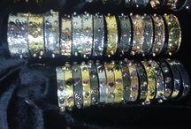 RGN Hammered silver / 925 sterling Silver Handmade Hammered Designer Jewellery diamonds bracelet