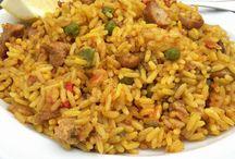 arroz campero con carne.