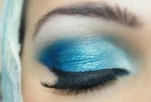 BLUE EYE MAKE UP / Eye Makeup blue shades...