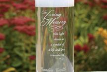 In Loving Memory - Remembering and Honoring Lost Love Ones on Your Wedding Day / Your wedding day is one of the most important and exciting days of your life. This day can also kindle moments of sadness when remembering those loved ones who have passed and cannot share your joy. Memorial candles and vases custom engraved with those who are with you in spirit are the perfect way to share your joy during your wedding ceremony and reception. Memorial seats, stations and photos are just a few of the ways to remember lost loved ones on your wedding day. / by My Wedding Reception Ideas