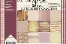 ODBD Rustic Beauty Paper Collection / ODBD Rustic Beauty Paper Collection   http://www.ourdailybreaddesigns.com/index.php/rustic-beauty-6x6-paper-pad.html