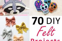 Felt Crafts & Products / Have all kinds of fun with felt using the pins included in this Pinterest board.