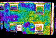 Residential properties / Infrared thermal images of residential properties showing energy inefficiencies/loss
