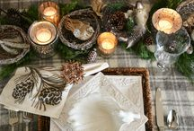 Bird tablescape