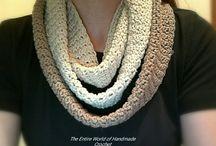Handmade Crochet Woman's Scarf / https://www.facebook.com/TheEntireWorldofHandmadeCrochet/