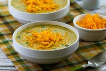 Broccoli Cauliflower soup  and Cheese