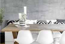 table chêne blanchi