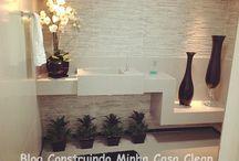 Bancadas de Porcelanato! / Veja + Inspirações e Dicas de decoração no blog!  www.construindominhacasaclean.com