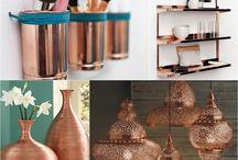 cobre na decoração