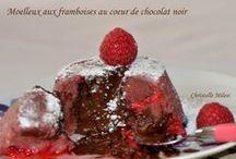 moelleux ax framboises et chocolat coulant