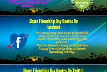 Friendship Day / Download friendship day quotes and images. Find the best friendship day quotes to send to your friends.