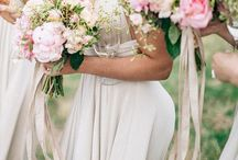Wedding {bouquet ribbons} / beautiful, flowy ways to wrap your Bouquet in Ribbon