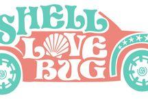 Shell Love Bug Seashell Car